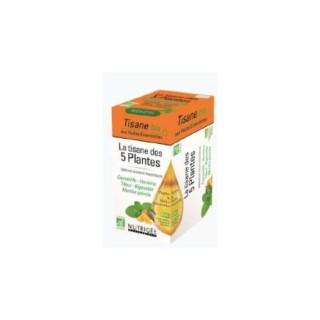 Nutrigée la tisane des 5 plantes bio 20 sachets
