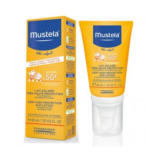Mustela Bébé solaire Lait Trés Haute Protection 50+ spf 40ml