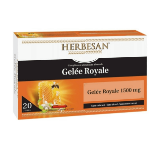 Herbesan Gelée royale 1500 mg - 20 ampoules