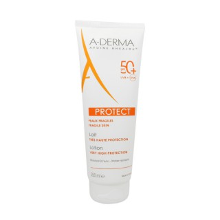 Aderma protect lait spf 50+ peaux fragiles 250 ml