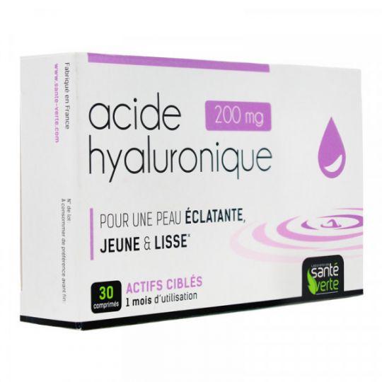 Acide Hyaluronique 30 Comprimés Santé verte