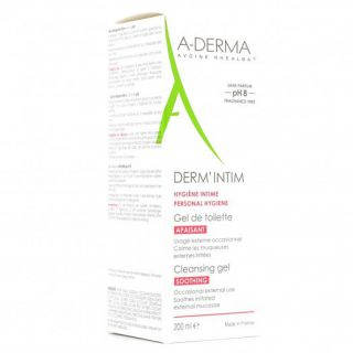 Aderma Derm'intim Ph8 Gel apaisant 200ml