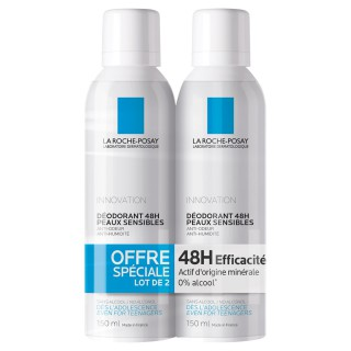 La roche posay innovation déodorant spray lot de 2 x150ml