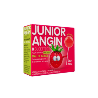 Sucettes Junior Angin - 8 sucettes