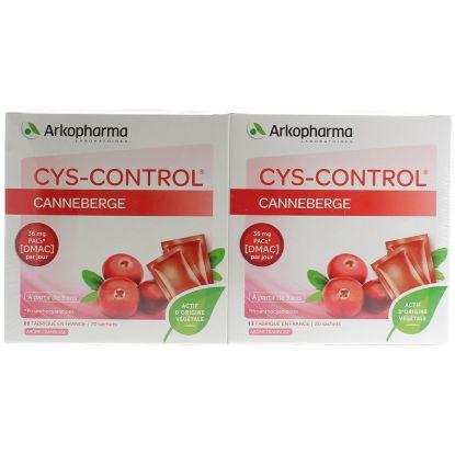 Cys-Control  20 Sachets Lot de 2 Boites