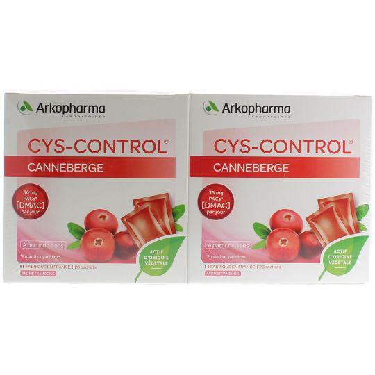 Cys-Control Framboise 20Sachets Lot de 2 Boites