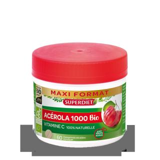Superdiet Acérola 1000 Bio - 60 comprimés