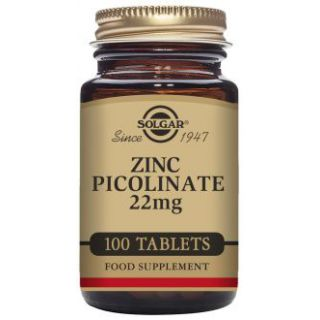 Solgar Zinc Picolinate 22mg tablets