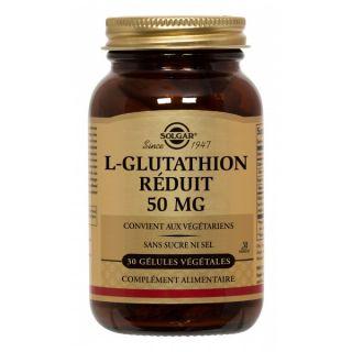 Solgar L Glutathion Réduit 30 gelules 50mg