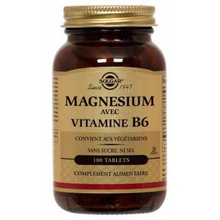 Solgar Magnésium et vitamine b6 100 cp