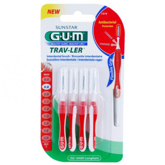 Gum Brossette Interdentaires Trav-ler 0,8mmx4