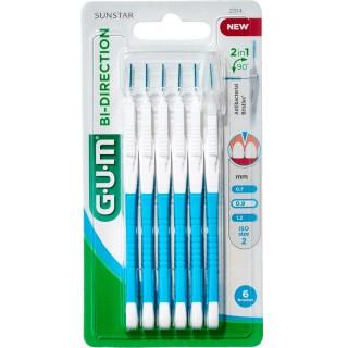 Gum Brossettes interdentaires Proxabrush Bidirection 0.9 - x6