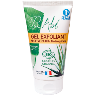 Pur Aloé Gel exfoliant visage aloé vera 81% - 150ml