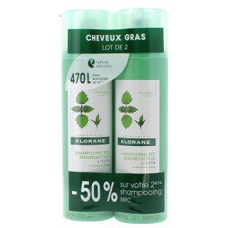 Klorane Dry Shampoo with Nettle  2 x 150ml
