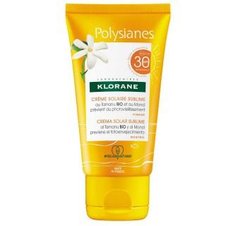 Klorane Polysianes Crème solaire sublime visage au Monoï et Tamanu Bio SPF30 - 50ml