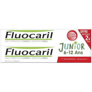 Fluocaril Junior Dentifrice fruits rouges 6-12 ans - Lot de 2 x 75ml