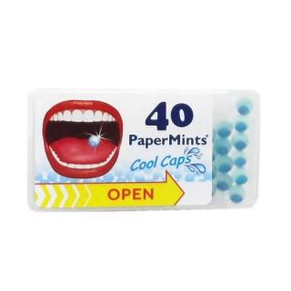 PaperMints Cool caps sans sucre Box - 40 billes