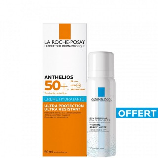 La Roche-Posay Anthelios Crème hydratante SPF50+ 50ml + Eau thermale 50ml Offerte