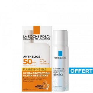 La Roche-Posay Anthelios Shaka Fluide Invisible SPF50+ 50ml + Eau thermale 50ml Offerte