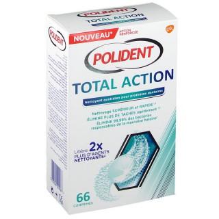 Polident Total Action Nettoyant appareils dentaires - 66 comprimés