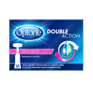 Optone Double Action Yeux secs - 10 unidoses