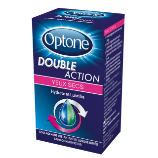 Optone Double Action Yeux secs - 10ml