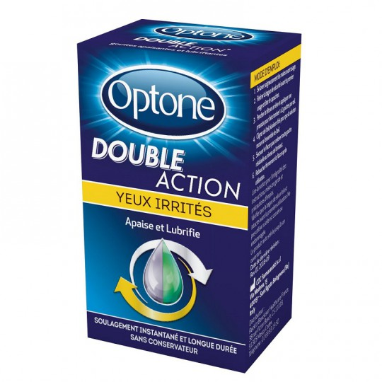 Optone Double Action Yeux irrités - 10ml