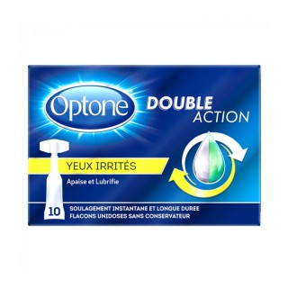 Optone Double Action Yeux irrités - 10 unidoses