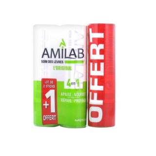 Amilab Soin lèvres duo 2 x 3,6ml + 1 tube Offert