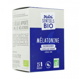 Nutrisanté Les Nutri'Sentiels Mélatonine Valériane - 15 gélules