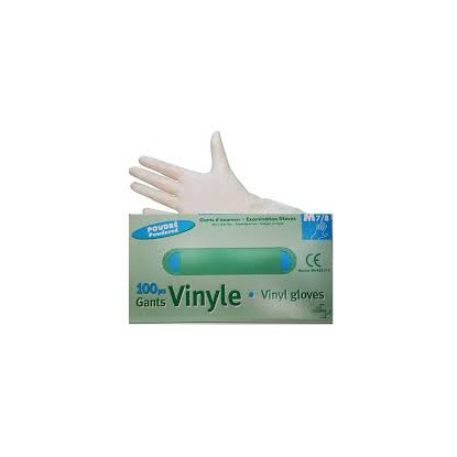 gant vinyle poudrés boites de 100 Taille M 7/8