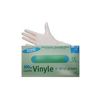 gants vinyle poudrés boites de 100 Taille M 7/8
