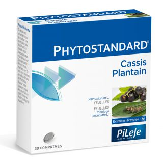 Pilèje Phytostandard cassis and plantain 30 tabs