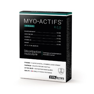 Synactifs MioActifs relaxant musculaire - 30 gélules