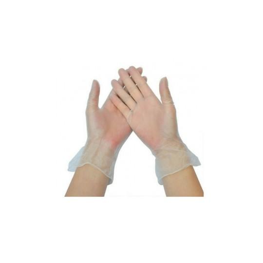 Robé médical gant vinyle avec poudre taille S X100