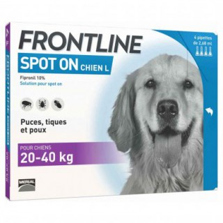 Frontline spot on chien 20-40 kg bte de 4
