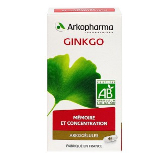 Arkogélules Ginkgo bio - 45 gélules