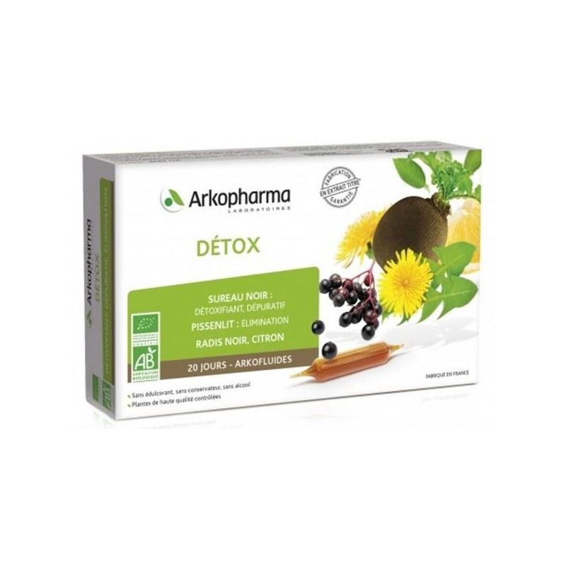 Détox Bio Arkofluides Arkopharma - 20 ampoules
