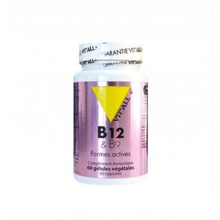 Vitall+ Vitamines B12 & B9 - 60 gélules végétales
