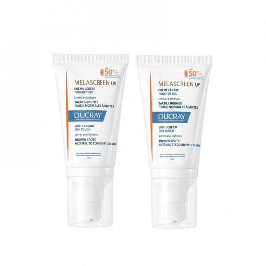 Ducray Melascreen UV Crème légère SPF50+ - 2x40ml