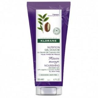 Klorane gel douche nutrition parfum mûrier sauvage 200ml