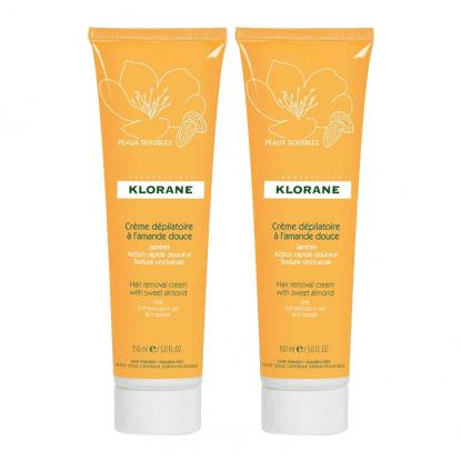 Klorane Crème dépilatoire à l'amande douce - 2x150ml