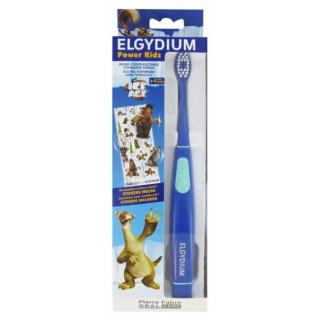 Elgydium Power Kids Brosse à dents électrique +4 ans l'âge de glace bleu