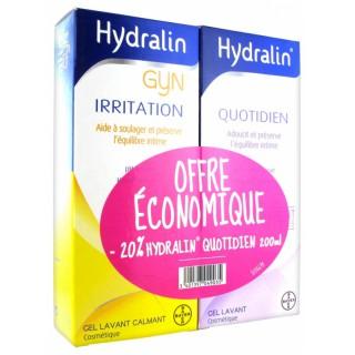 Hydralin Gyn irritation 200ml + Hydralin Gel quotidien 200ml