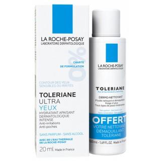 La Roche-Posay Toleriane Ultra yeux 20ml + dermo-nettoyant 50ml offert