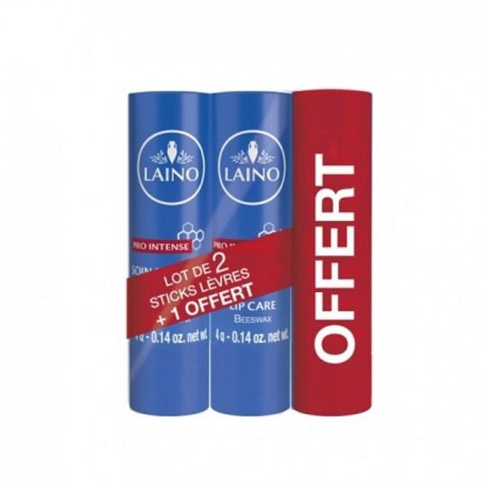 Laino Pro Intense Soin des lèvres gercées et abîmées - Lot de 2 + 1 Offert