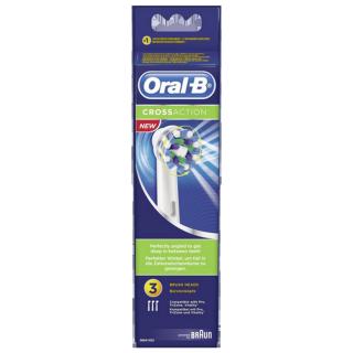 Oral B Cross Action recharge brosse à dents électrique - 3 brossettes