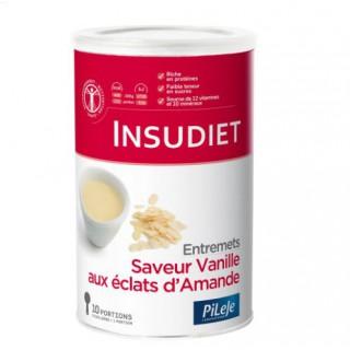 Insudiet entremets saveur vanilles éclats amande 300g