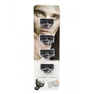 Vitry lot de 4 recharges pour rasoir 5 lames Vitry