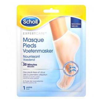 Scholl masque pieds huile macadamia 1 paire
